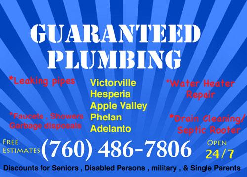 Guaranteed Plumbing , San Bernardino County