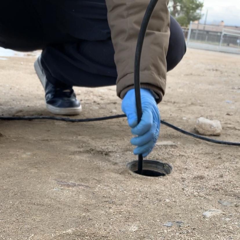 Plumber doing hydro-Jet